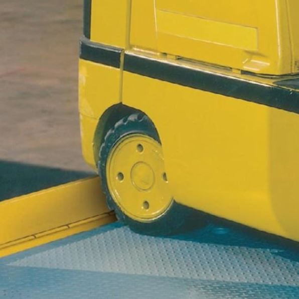 How do Impact Barriers Reduce the Risk of an Accident in a Loading Dock Facility?